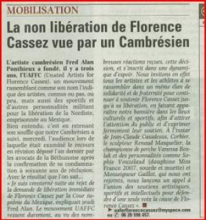 La non libération de Florence Cassez vue par un Cambésien.