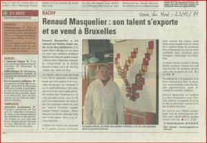 Renaud Masquelier: sontalent s'export et se vend à Bruxelles
