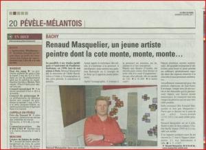 Renaud Masquelier, un jeune artiste peintre dont la cote monte, monte, monte...